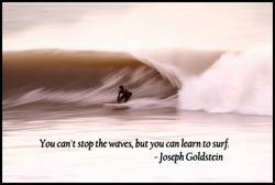 You can't stop the waves, but you can learn to surf, 