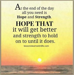 At the end of the day 