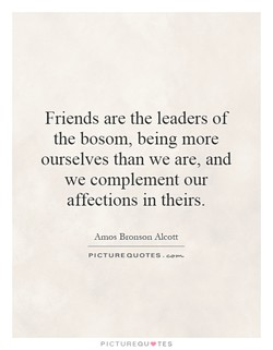 Friends are the leaders of