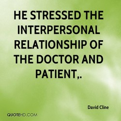 HE STRESSED THE 