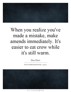 When you realize you've 