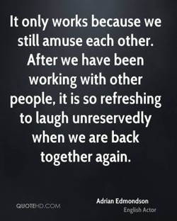 It only works because we 