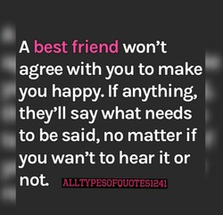 best friend won't 