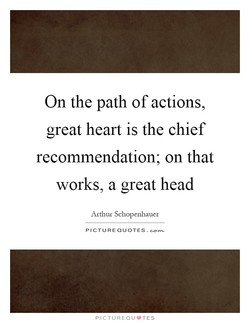 On the path of actions, 