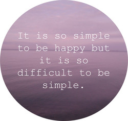 It is so simple 