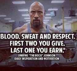 BLOOD, SWEAT AND RESPECT.