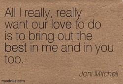 All I really, really 