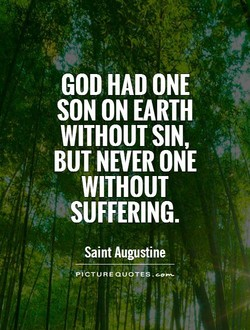 GOD HAD ONE 