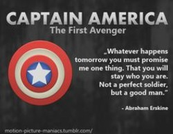 CAPTAIN AMERICA The First Avenger me thing. you will stay you are. Not a but a