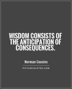 WISDOM CONSISTS OF 
