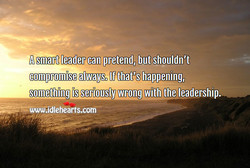 A smart leade€cän pretend/ butshouldn't 