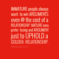 IMMATURE people always 