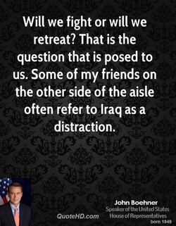 Will we fight or will we 