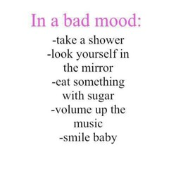 In a bad mood: 