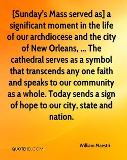 [Sunday's mass served as] a 