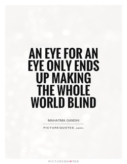 AN EYE FOR AN 