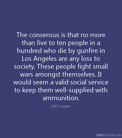 The consensus is that no more 