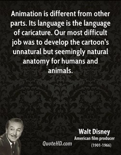 Animation is different from other 