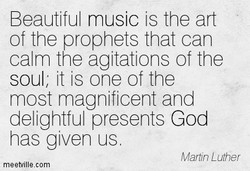 Beautiful music is the art 