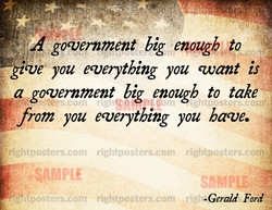 goverament big enough to 