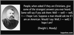 People, when asked if they are Christians, give 