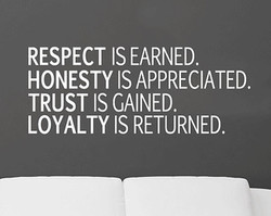 RESPECT IS EARNED. 