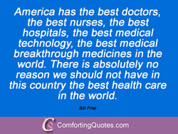 America has the best doctors, 