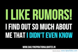 I LIKE RUMORS! 
