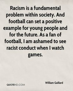 Racism is a fundamental 