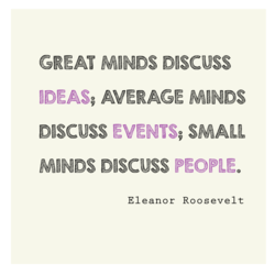 GREAT MINDS DISCUSS 