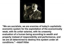 -We are socialists. we are enemies of today