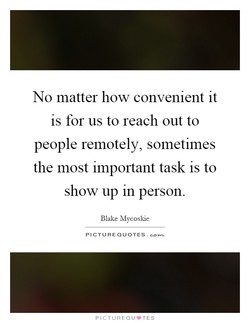 No matter how convenient it 