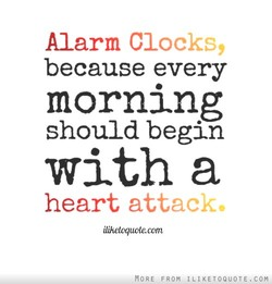 Alarm Clocks, 