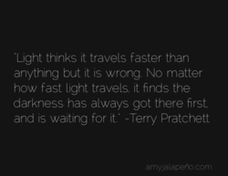 ight thinks it travels faster than