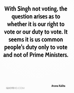 With Singh not voting, the 