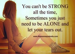 You can't be STRONG 