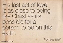 His last act of love 