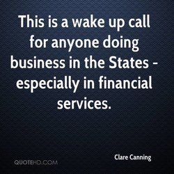 This is a wake up call 