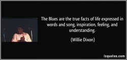 The Bues are the true facts of life expressed in 