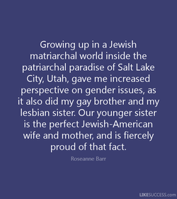 Growing up in a Jewish 