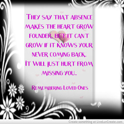 THEY SAY THAT ABSENCE 