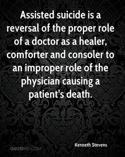 Assisted suicide is a 