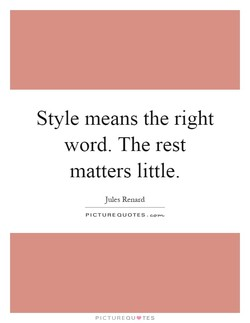 Style means the right 