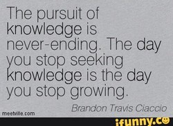 The pursuit of 