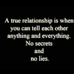 A true relationship is when 