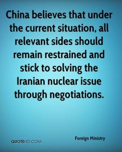 China believes that under 