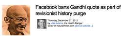 Facebook bans Gandhi quote as part of 