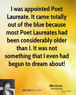 I was appointed Poet 