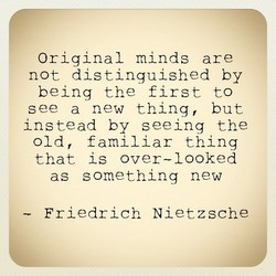 Original minds are 