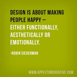 DESIGN IS ABOUT MAKING 